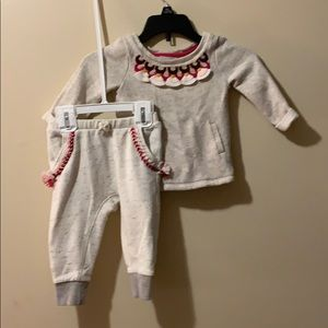 Girls 12 month outfit sweatshirt & sweatpants